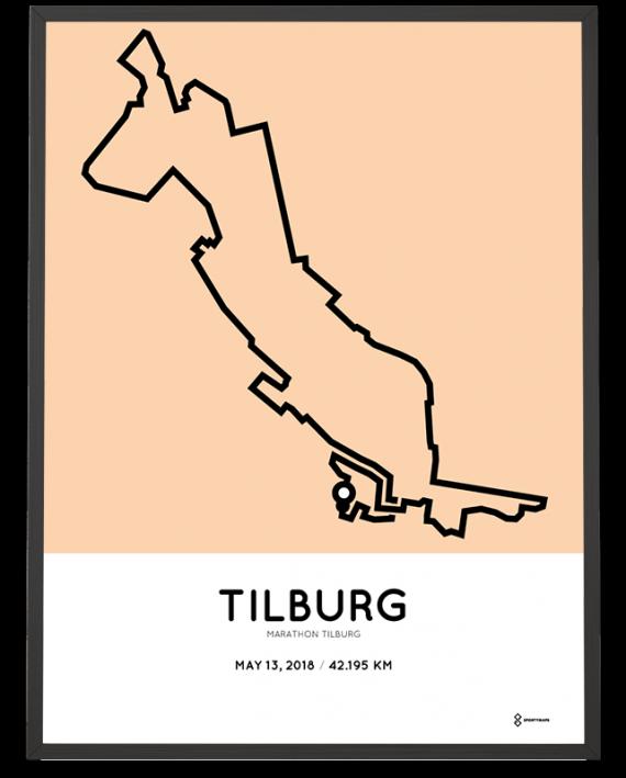 2018 Marathon Tilburg parcours poster
