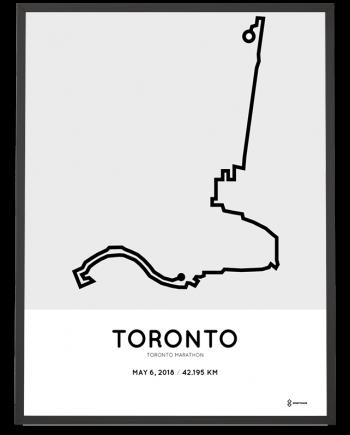 2018 Toronto marathon course map print