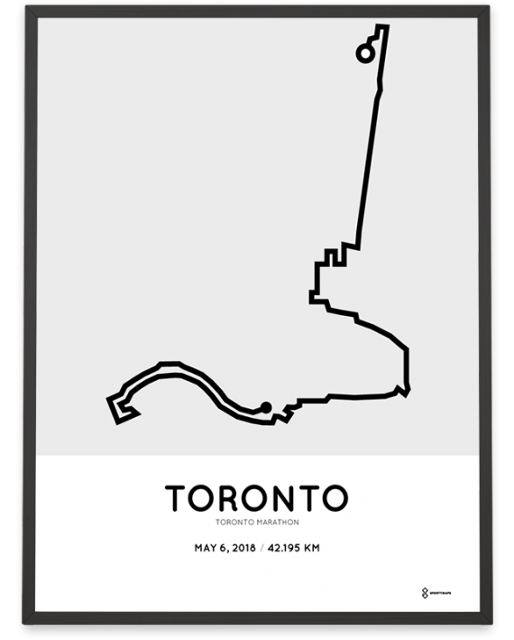 2018 Toronto marathon course map print