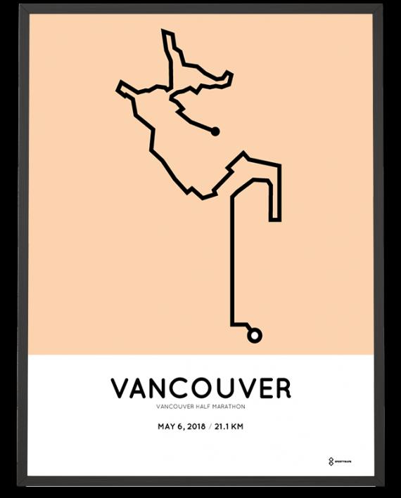2018 Vancouver half marathon course print