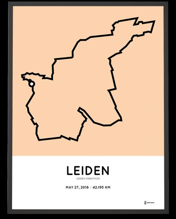 2018 leiden marathon parcours poster