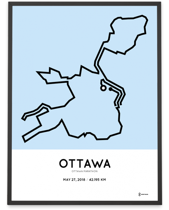 2018 Ottawa marathon course print