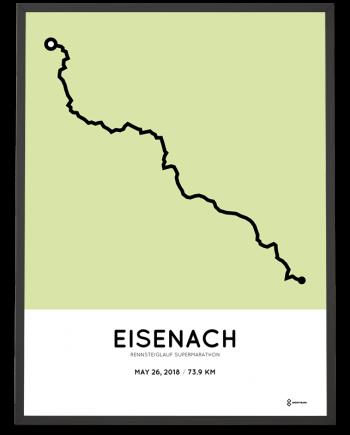 2018 rennsteiglauf supermarathon strecke poster