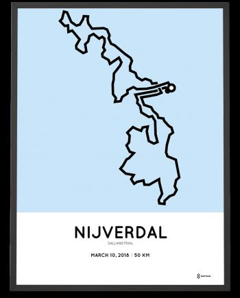 2018 sallandtrail 50km course poster