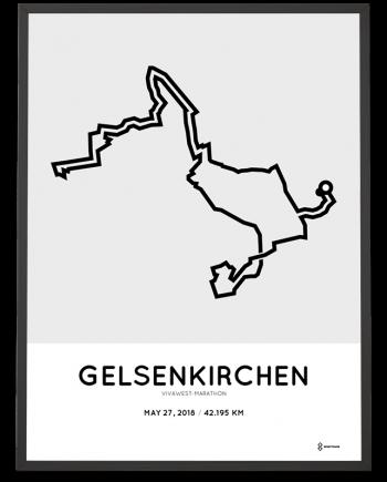 2018 Vivawest marathon course strecke poster