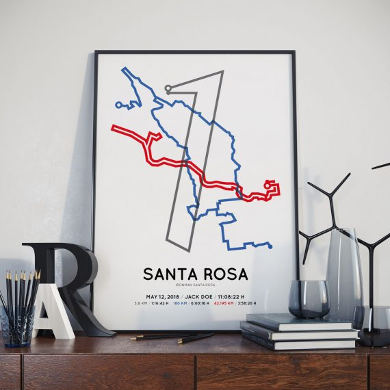 2018 Ironman Santa Rosa personalized route poster