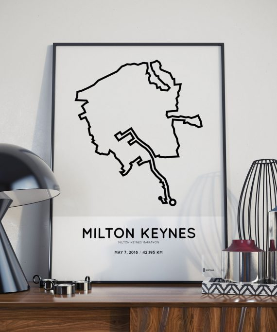 2018 Milton Keynes route print