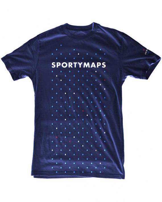 Sportymaps running shirt front