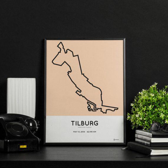 2018 Marathon van Tilburg parcours poster