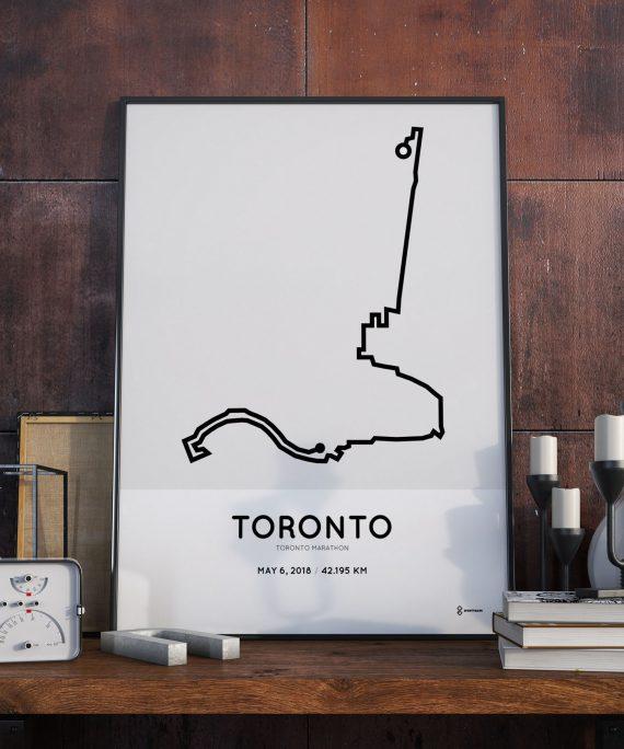2018 Toronto marathon route poster