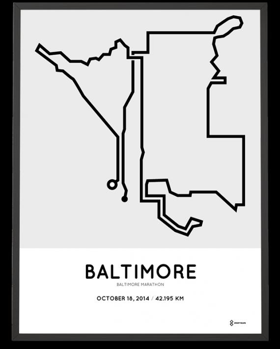 2014 Baltimore marathon course poster
