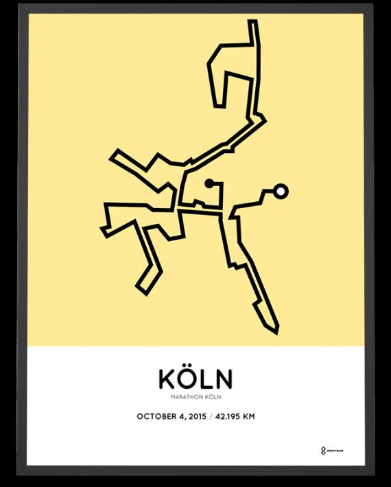 2015 Cologne marathon course poster