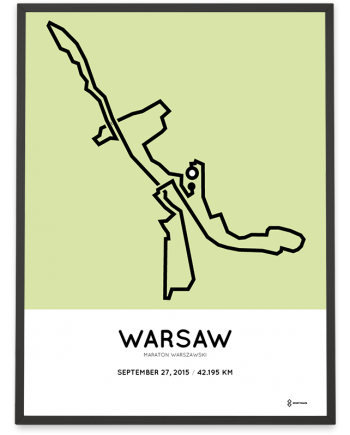 2015 Warsaw maraton course poster