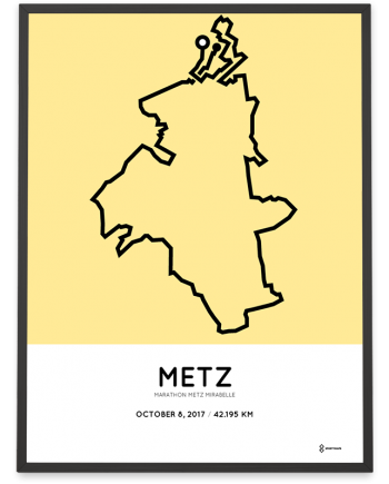 2017 Metz marathon parcours poster