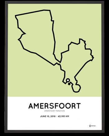 2018 Amersfoort marathon parcours poster