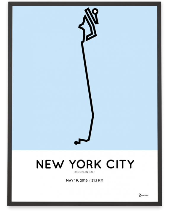 2018 Brooklyn half marathon course poster