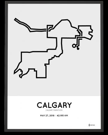 2018 Calgary marathon course poster
