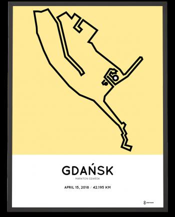 2018 Gdansk marathon course print