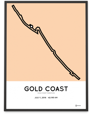 2018 Gold Coast marathon course poster