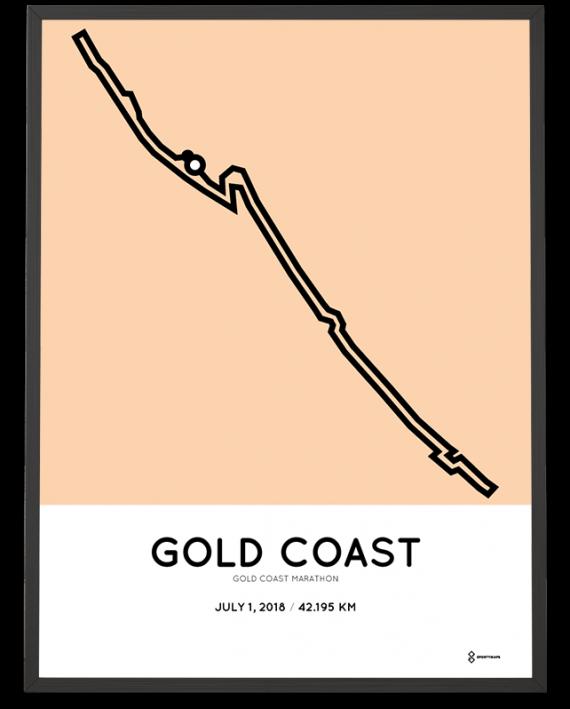 2018 Gold Coast marathon course poster