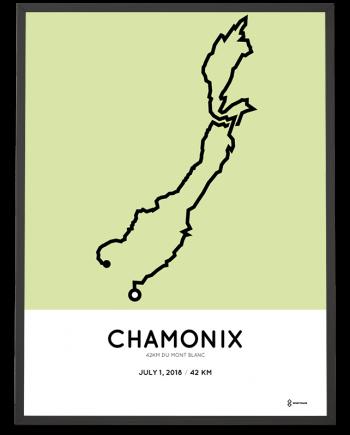 2018 Mont Blanc marathon course poster