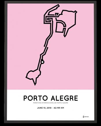 2018 Porto Alegre marathon route map poster