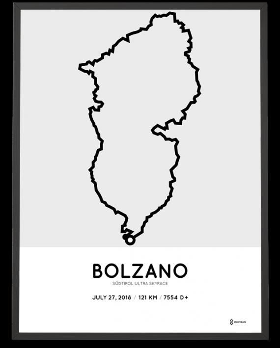 2018 Sudtirol Ultra skyrace course map print