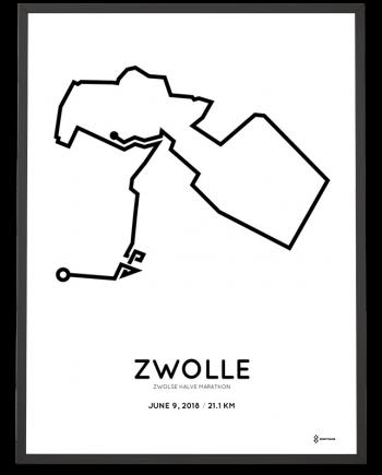 2018 Zwolsle halve marathon route poster