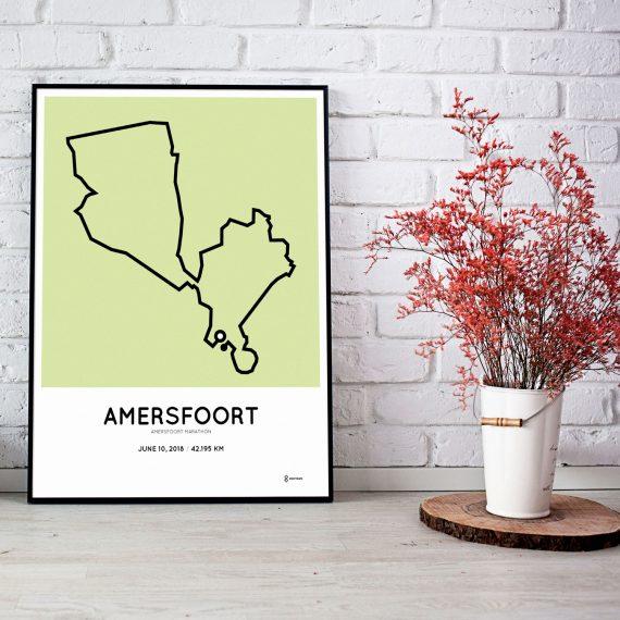 2018 marathon amersfoort course map print