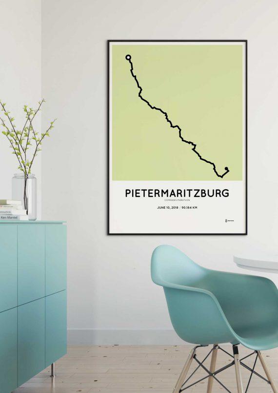 2018 Comrades marathon route map print