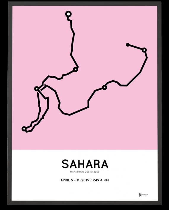 2015 Marathon des Sables course poster sportymaps