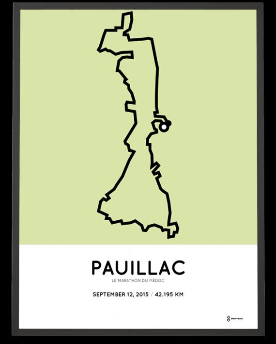 2015 marathon du medoc sportymaps parcours poster