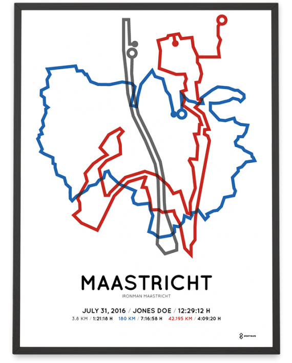 2016 Ironman Maastricht route sportymaps poster