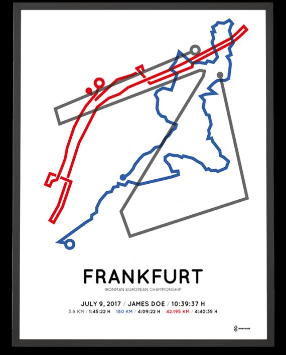 2017 Ironman Frankfurt streckemap print