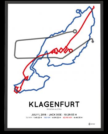 2018 Ironman Klagenfurt course poster