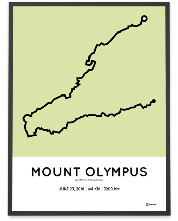 2018 Olympus marathon sportymaps course poster