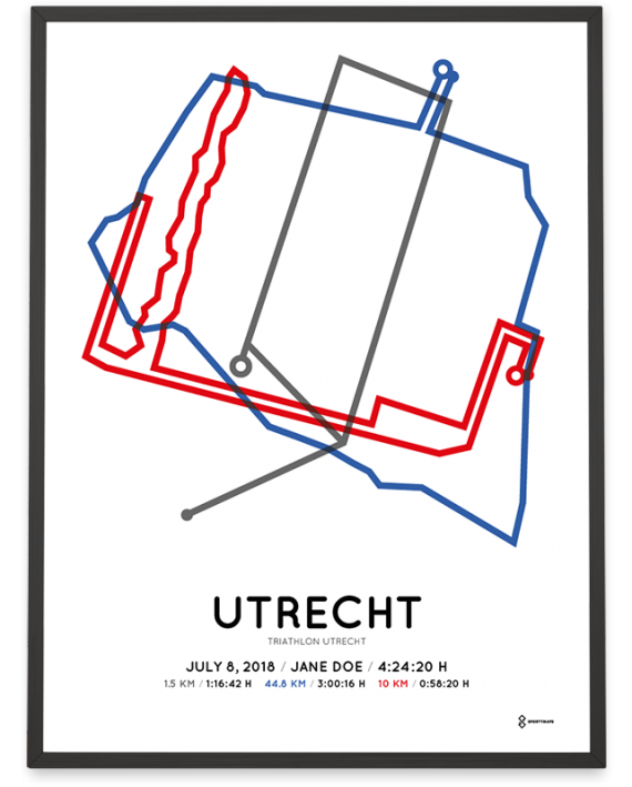 2018 Triathlon utrecht route print