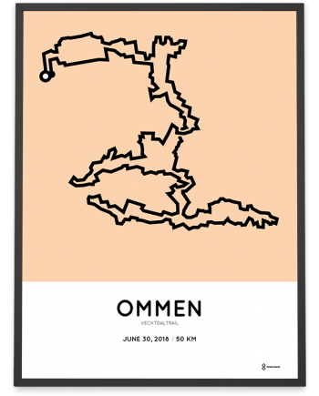 2018 Vechtdaltrail sportymaps route poster