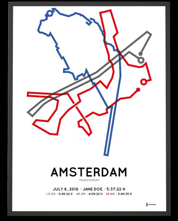 2018 tri amsterdam route poster