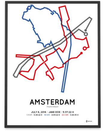 2018 triamsterdam half distance parcours print