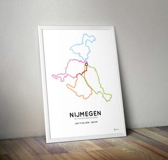 2018 Nijmeegse 4daagse 200km parcours sportymaps print