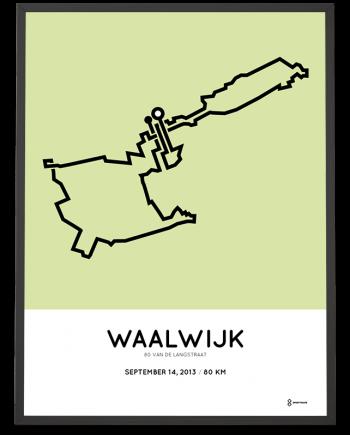 2013 80 van de langstraat kennedy mars route print