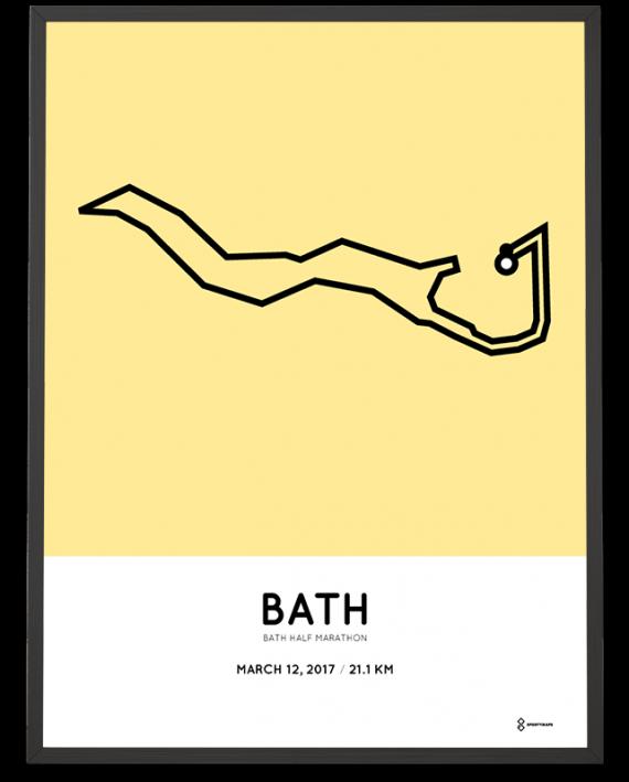 2017 Bath half marathon route poster