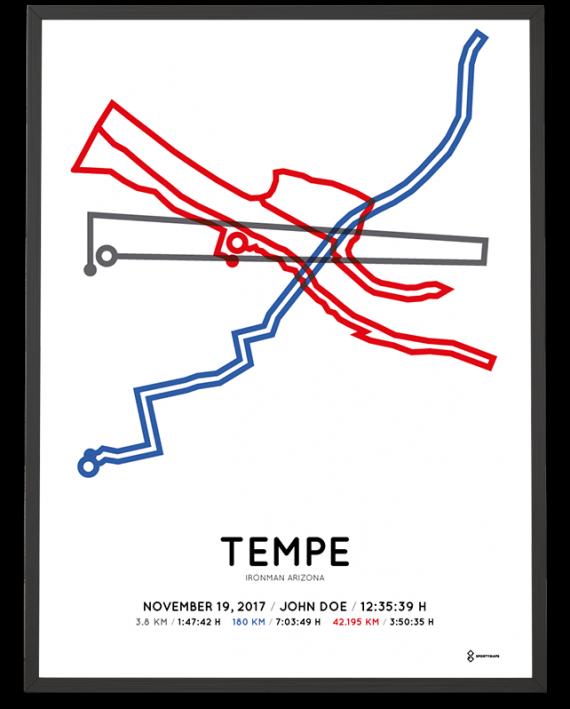 2017 Ironman Arizona course map poster
