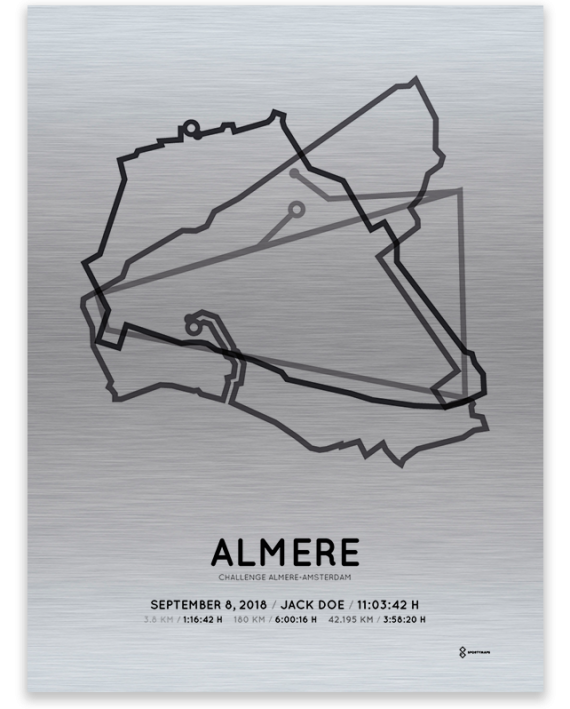 2018 Challenge almere-amsterdam long-distance-alu course print on aluminum