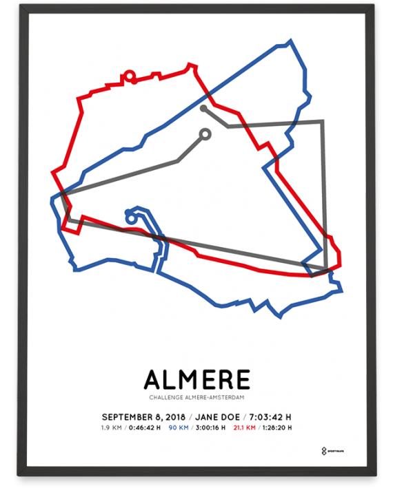 2018 Challenge almere-amsterdam middle-distance course poster