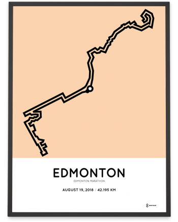 2018 Edmonton marathon course print