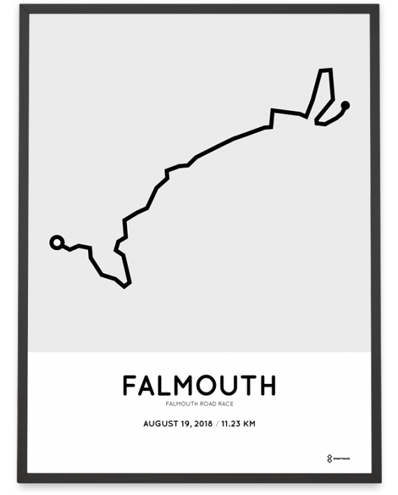 2018 Falmouth road race course poster