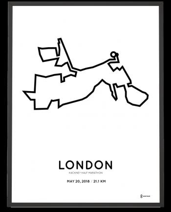 2018 Hackney half marathon course poster
