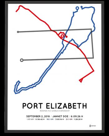 2018 Ironman 70.3 World Championship Port Elizabeth course poster